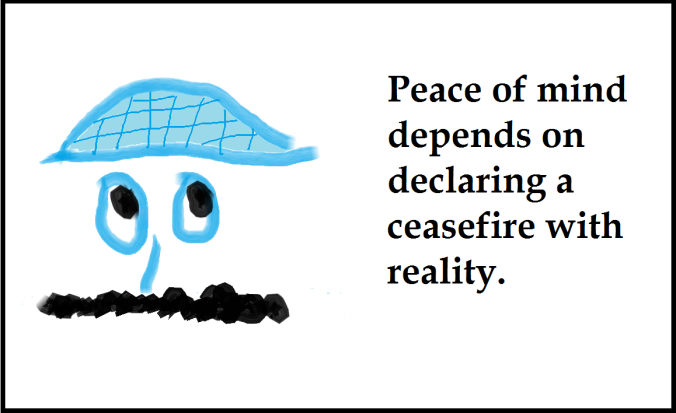 xPeace of mind depends...framed